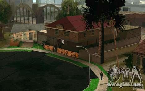 Nuevo hogar en Grove Street CJ para GTA San Andreas