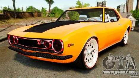 Chevrolet Camaro Z28 1969 para GTA 4