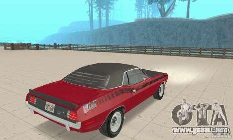 Plymouth Cuda AAR 340 1970 para GTA San Andreas left