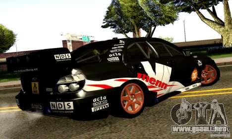 Subaru Impreza WRC 2007 para la visión correcta GTA San Andreas