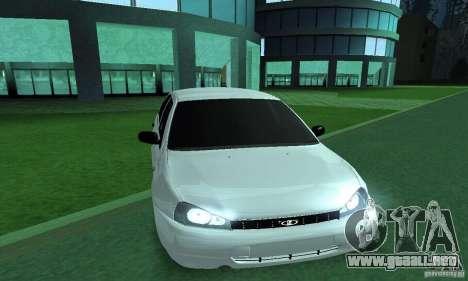 Lada Kalina Hatchback para GTA San Andreas vista posterior izquierda