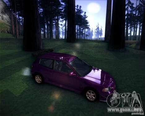 Honda Civic 1994 para la visión correcta GTA San Andreas