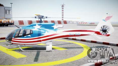 Eurocopter EC 130 B4 USA Theme para GTA 4 left