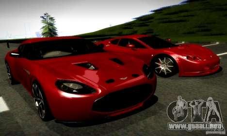 Aston Martin V12 Zagato Final para la visión correcta GTA San Andreas