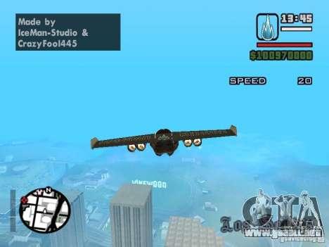 Jetwing Mod para GTA San Andreas tercera pantalla