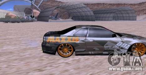 Nissan Skyline GTR34 MAXXIS para la visión correcta GTA San Andreas