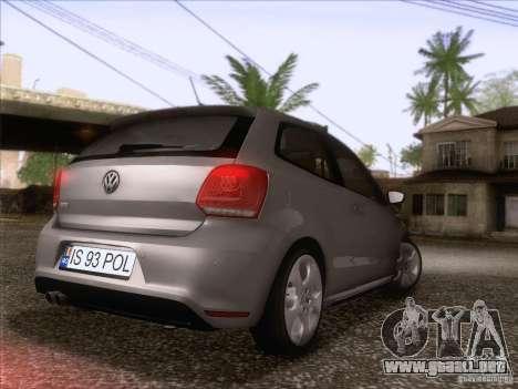 Volkswagen Polo GTI 2011 para GTA San Andreas vista posterior izquierda