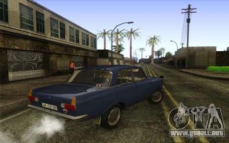 IZH 412 Moskvich para GTA San Andreas vista posterior izquierda