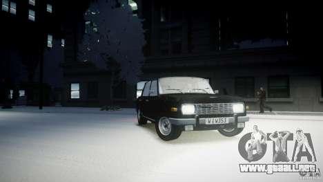 Wartburg 353 W Deluxe para GTA 4 visión correcta