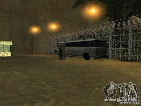 Bus Parque v1.1 para GTA San Andreas sucesivamente de pantalla
