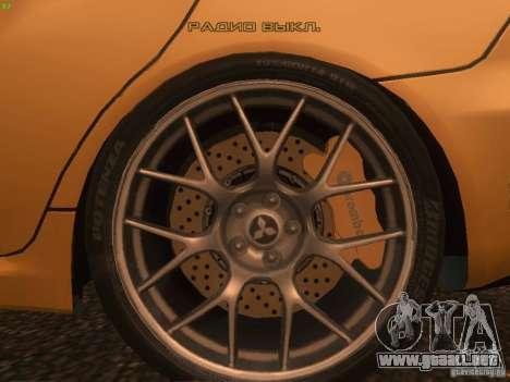 Mitsubishi  Lancer Evo X BMS Edition para GTA San Andreas interior