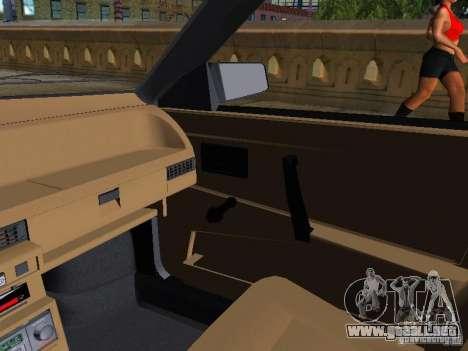 Vaz 2109 Sputnik para visión interna GTA San Andreas