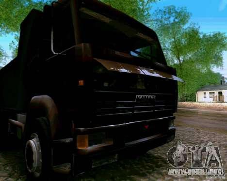 Camión KAMAZ 6520 para GTA San Andreas vista hacia atrás