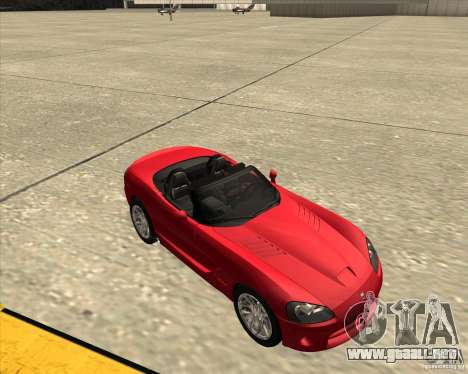 Dodge Viper SRT-10 Roadster para visión interna GTA San Andreas