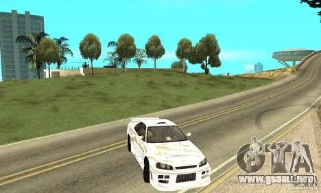 Nissan SkyLine R34 Tunable V2 para vista lateral GTA San Andreas