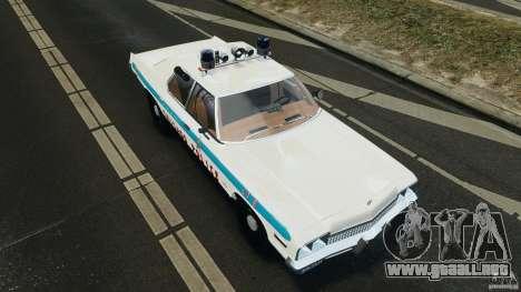 Dodge Monaco 1974 Police v1.0 [ELS] para GTA 4 vista desde abajo
