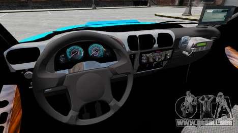 Chevrolet Blazer 2010 PMERJ ELS para GTA 4 vista hacia atrás
