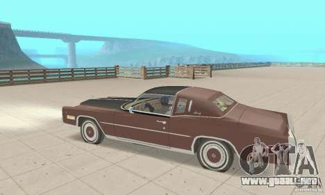 Cadillac Eldorado Biarritz 1978 para GTA San Andreas vista hacia atrás