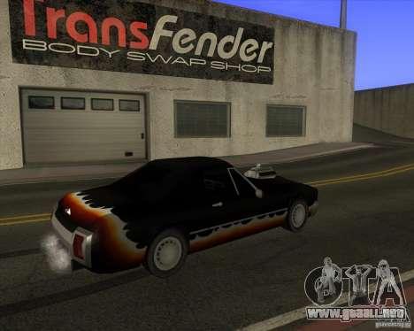 HD Diablo para GTA San Andreas vista posterior izquierda