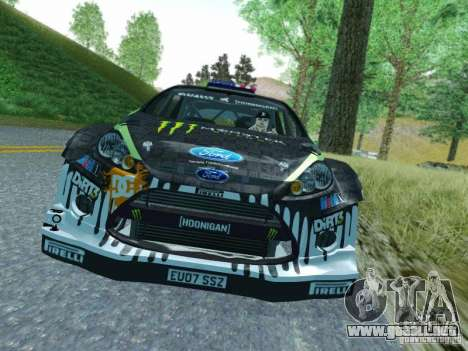Ford Fiesta Ken Block Dirt 3 para GTA San Andreas left