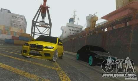 BMW X5M Gold Smotra v2.0 para la visión correcta GTA San Andreas