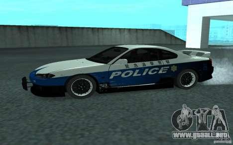 Nissan Silvia S15 Police para GTA San Andreas left