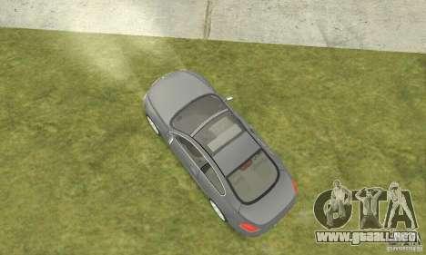 2004 BMW 645ci E63 con interior en blanco para GTA San Andreas vista posterior izquierda
