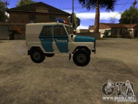 UAZ 31519 policía para GTA San Andreas left