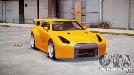 Nissan Skyline R35 GTR para GTA 4 visión correcta