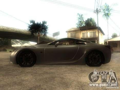 Lexus LFA Custom para GTA San Andreas left