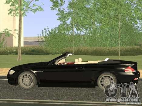 BMW 650I para GTA San Andreas left