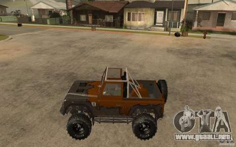 Land Rover Defender Extreme Off-Road para GTA San Andreas left