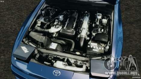 Toyota Supra 3.0 Turbo MK3 1992 v1.0 para GTA 4 vista superior