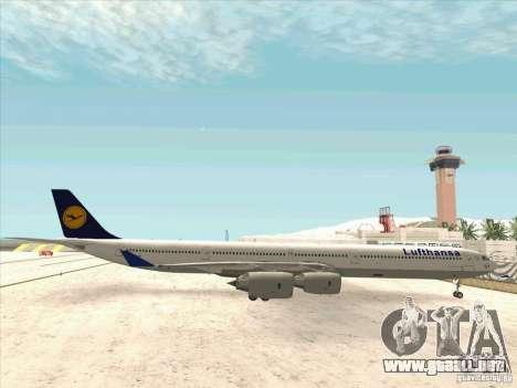 Airbus A-340-600 Lufthansa para GTA San Andreas left