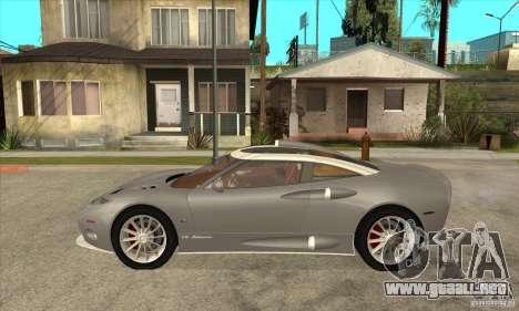Spyker C8 Aileron para GTA San Andreas left