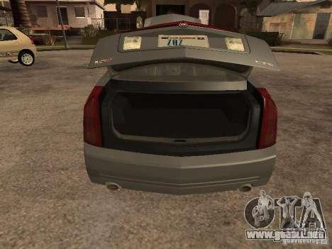 Cadillac CTS-V para GTA San Andreas vista hacia atrás