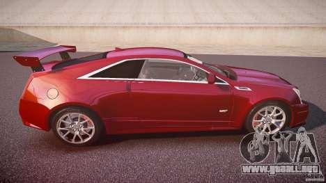Cadillac CTS-V Coupe para GTA 4 vista lateral