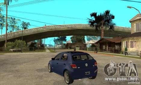 Volkswagen Gol Trend 1.6 para GTA San Andreas vista posterior izquierda