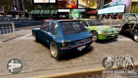 Peugeot 205 para GTA 4 left