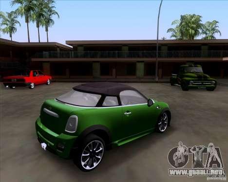 Mini Cooper Concept v1 2010 para GTA San Andreas left