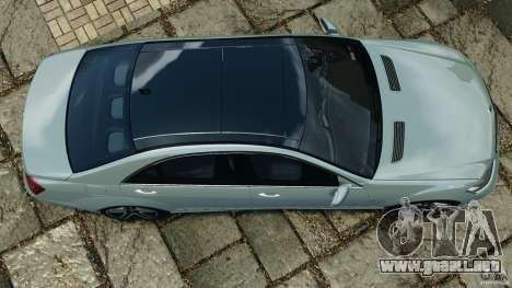 Mercedes-Benz S65 AMG 2012 v1.0 para GTA 4 vista hacia atrás