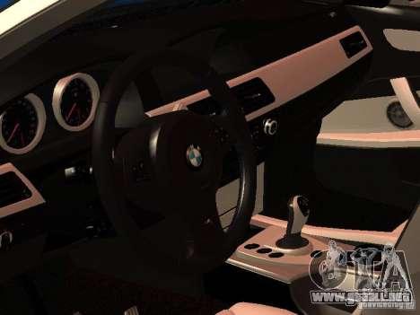 BMW 5-er Police para GTA San Andreas vista posterior izquierda