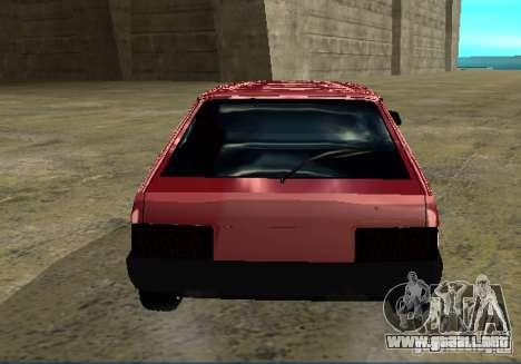 Vaz 2109 cromo para GTA San Andreas vista posterior izquierda