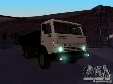 KAMAZ 53212 abierto para GTA San Andreas vista hacia atrás