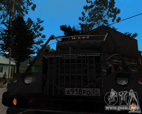 KrAZ 255 + remolque artict2 para GTA San Andreas vista posterior izquierda
