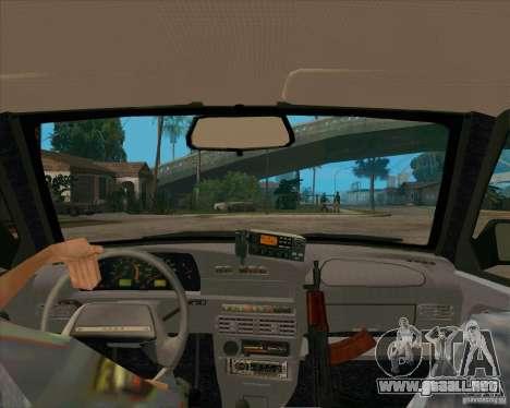 Vaz 2115 DPS para visión interna GTA San Andreas