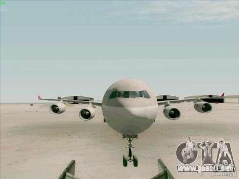 Airbus A-340-600 Quatar para visión interna GTA San Andreas