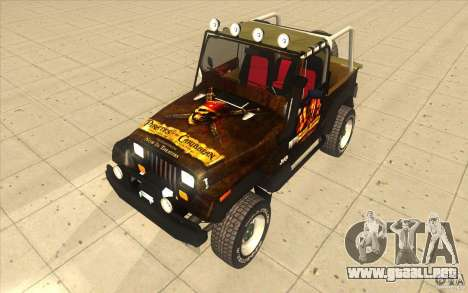 Jeep Wrangler 4.0 Fury 1986 para la visión correcta GTA San Andreas