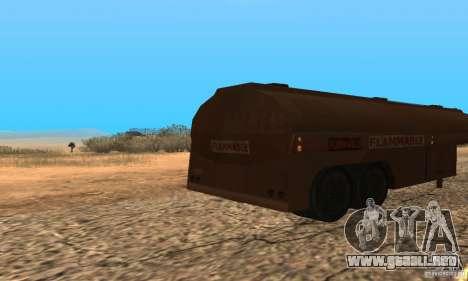 Remolque duelo Peterbilt para GTA San Andreas vista posterior izquierda