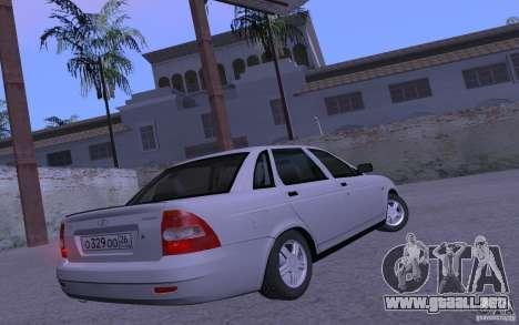 LADA Priora 2170 Brend para GTA San Andreas vista posterior izquierda